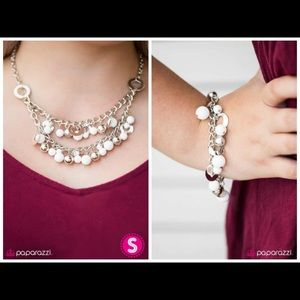 Matching white necklace set